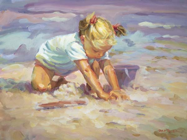 child by the ocean