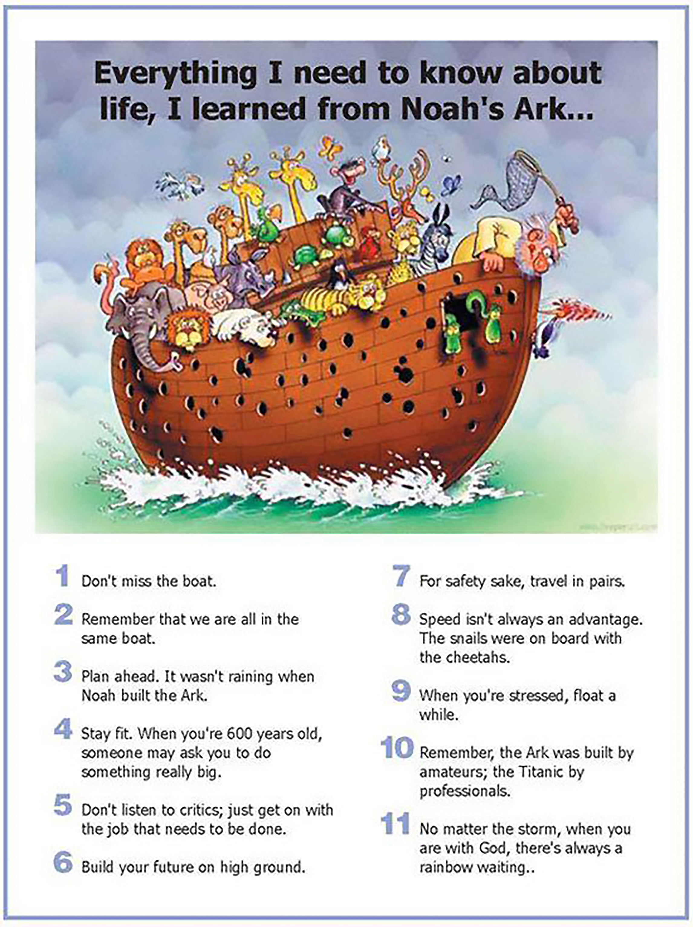 everything I learned from noahs ark