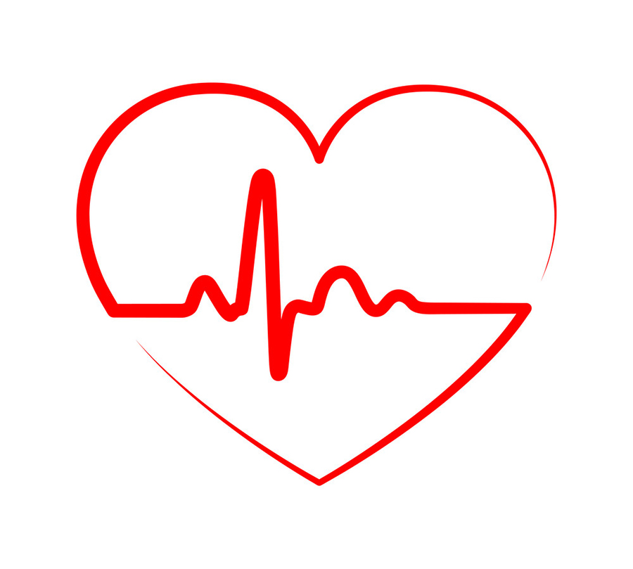 heart with heartbeat sign vector 20471097