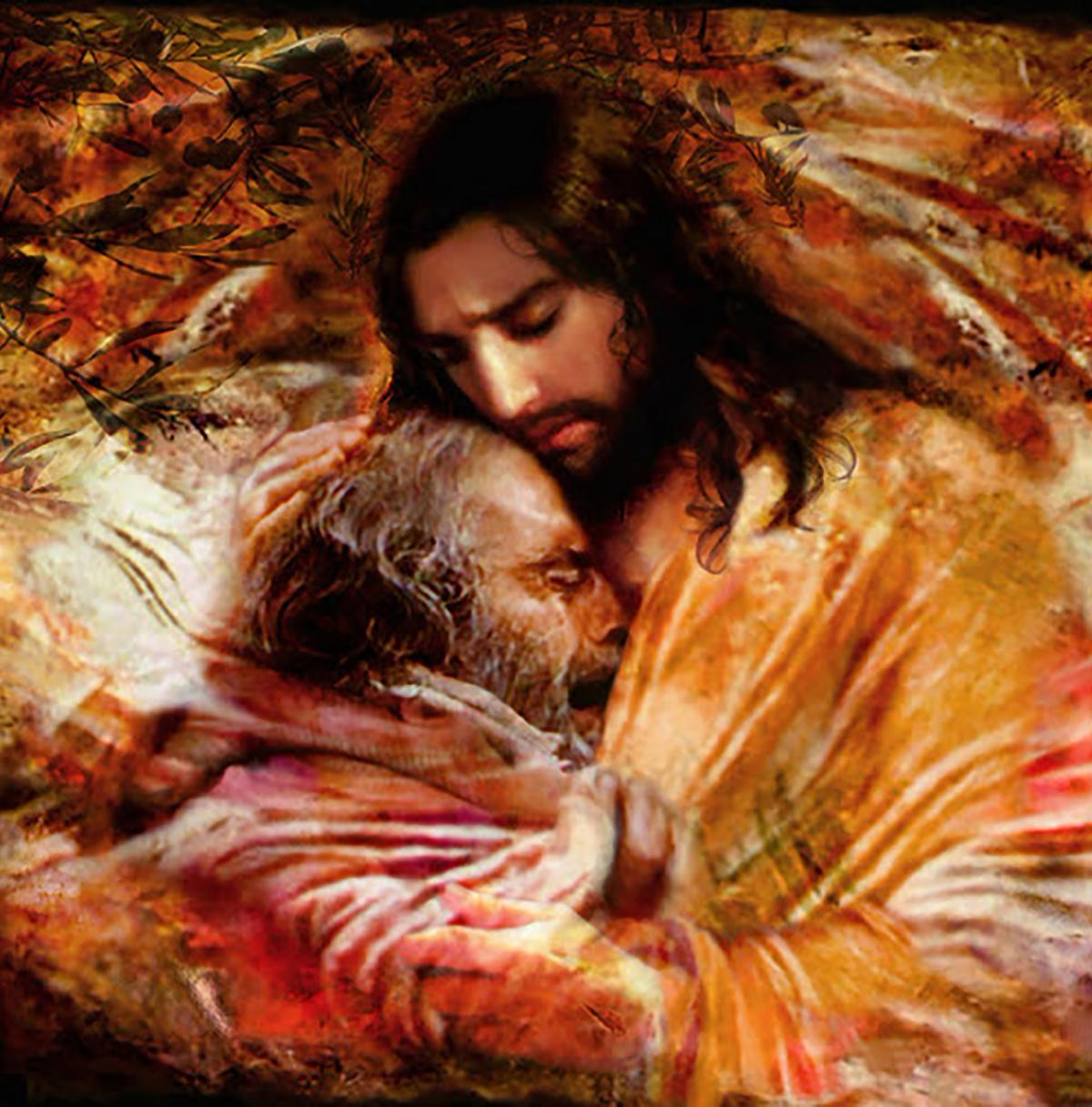 jesus embracing sinner